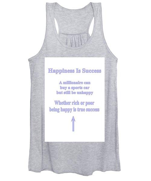 Happiness Is Success Women's Tank Top