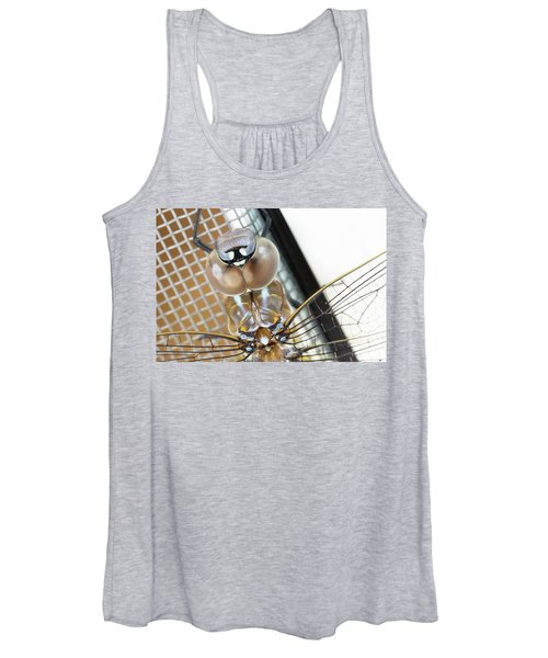 Women's Tank Top featuring the photograph Happy Dragonfly by Bob Cournoyer