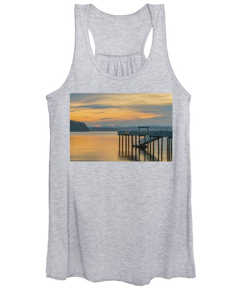 #harper Pier In The Morning Light Women's Tank Top