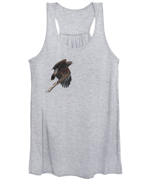 Harris Hawk - Transparent 2 Women's Tank Top