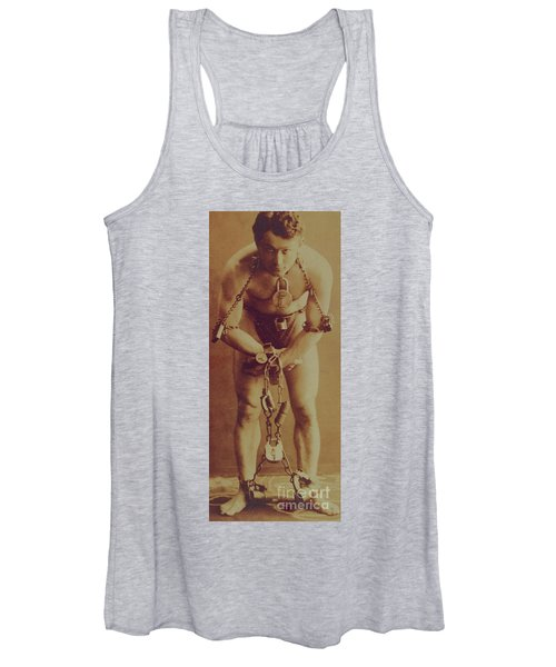 Harry Houdini In Chains Women's Tank Top