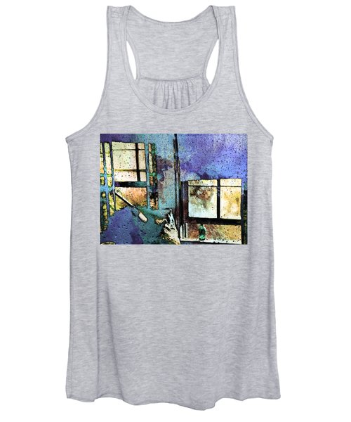 Hat And Glass Bottle Women's Tank Top