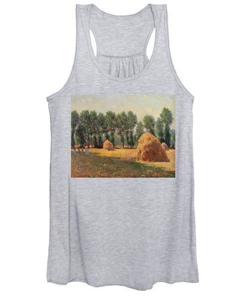 Haystacks At Giverny 1 Women's Tank Top