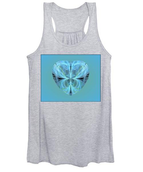 Heart - Ghost Blue Women's Tank Top