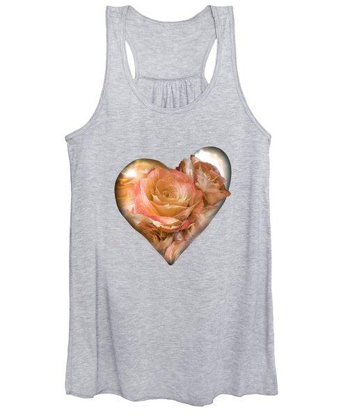 Heart Of A Rose - Gold Bronze Women's Tank Top