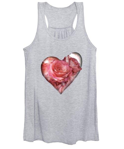 Heart Of A Rose - Melon Peach Women's Tank Top