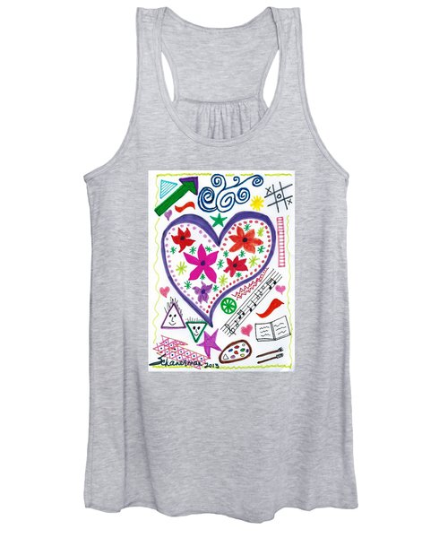 Hearts And Flowers Women's Tank Top