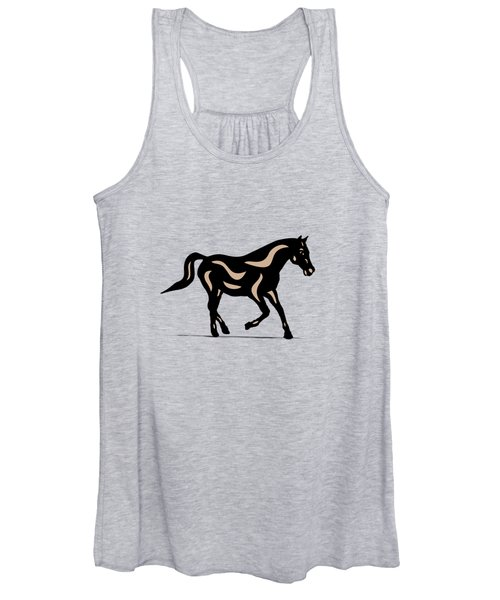 Heinrich - Pop Art Horse - Black, Hazelnut, Island Paradise Blue Women's Tank Top