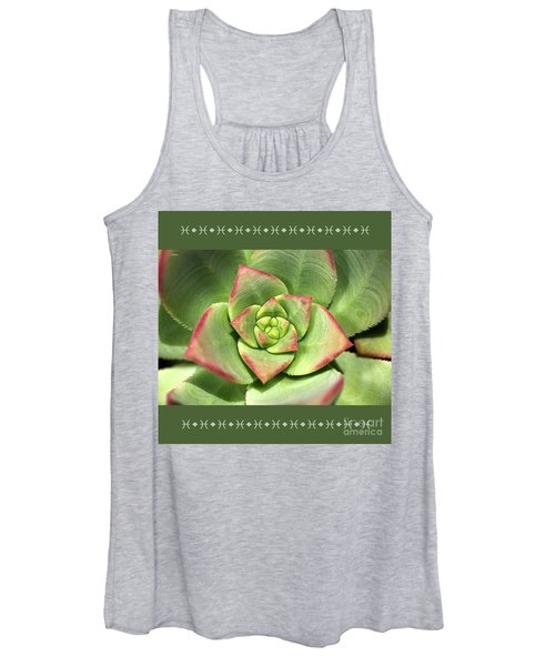 Hens And Chicks Succulent And Design Women's Tank Top