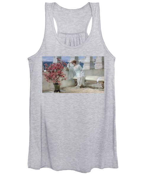 Her Eyes Are With Her Thoughts And They Are Far Away Women's Tank Top