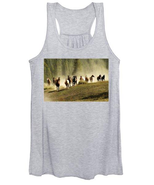 Herd Of Wild Horses Women's Tank Top
