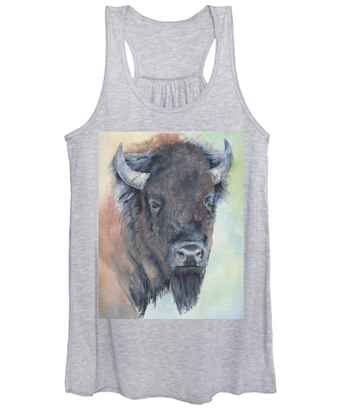 Here's Looking At You - Bison Women's Tank Top