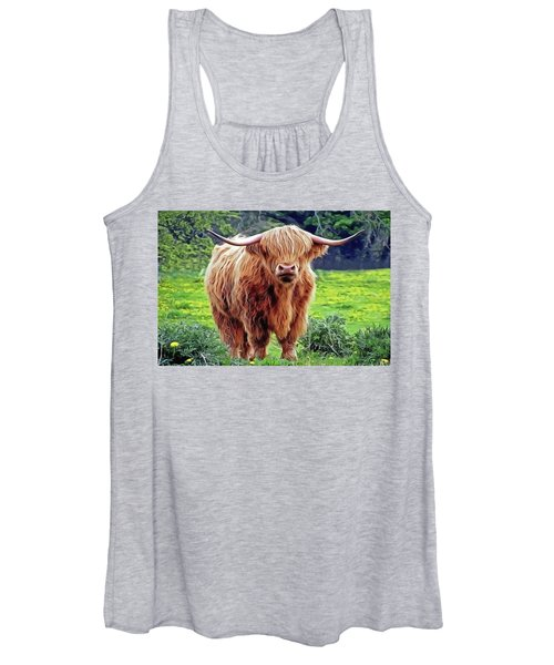Highland Cow Women's Tank Top