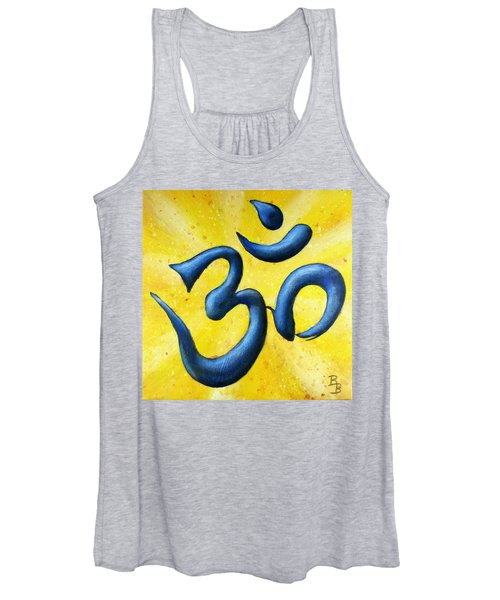 Hindu Om Symbol Art Women's Tank Top