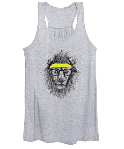 Hipster Lion Women's Tank Top
