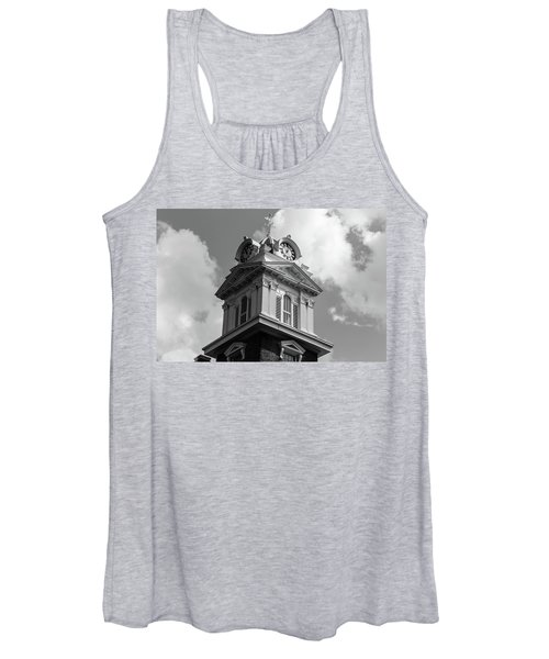 Historic Courthouse Steeple In Bw Women's Tank Top