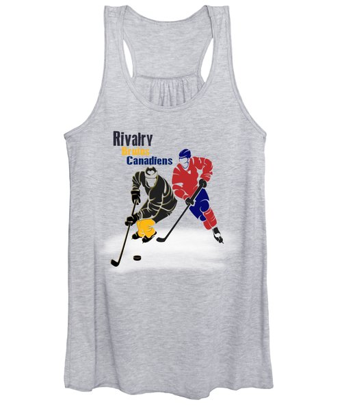 Hockey Rivalry Bruins Canadiens Shirt Women's Tank Top
