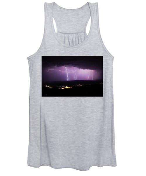 Horizontal And Vertical Lightning Women's Tank Top