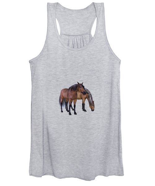 Horses In A Misty Dawn Women's Tank Top