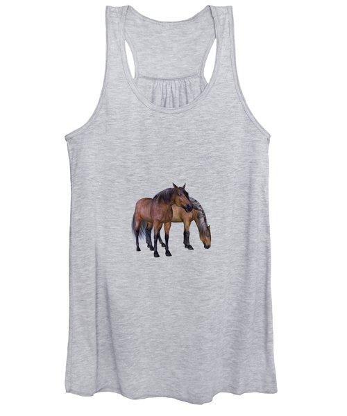 Horses In A Misty Dawn Women's Tank Top