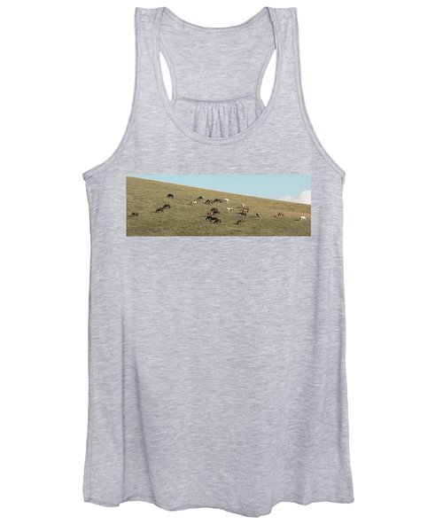 Horses On The Hill Women's Tank Top