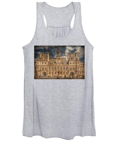Paris, France - Hotel De Ville Women's Tank Top