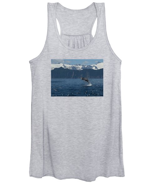 Humback Whale Arching Breach Women's Tank Top