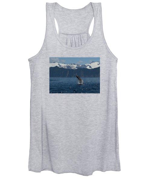 Humpback Whale Breach Seward Women's Tank Top