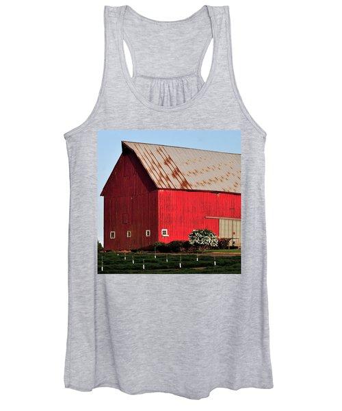 Hwy 47 Red Barn 21x21 Women's Tank Top