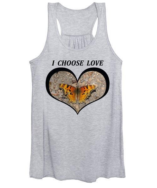 I Chose Love With A Butterfly In A Heart Women's Tank Top