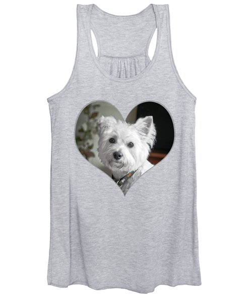 I Heart Puppy On A Transparent Background Women's Tank Top
