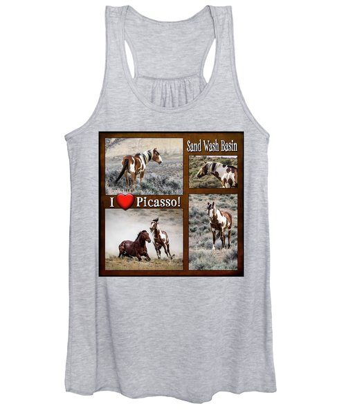 I Love Picasso Collage Women's Tank Top