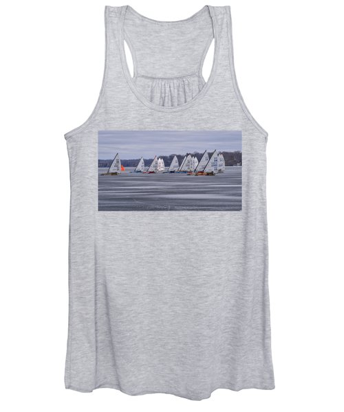 Ice Boat Racing - Madison - Wisconsin Women's Tank Top