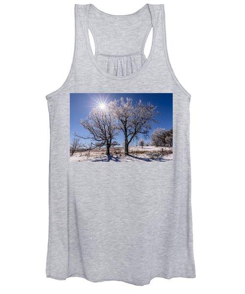 Ice Coated Trees Women's Tank Top