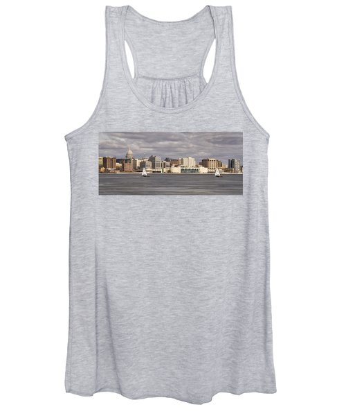 Ice Sailing - Lake Monona - Madison - Wisconsin Women's Tank Top
