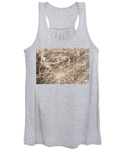 Ice Skating Marks Women's Tank Top