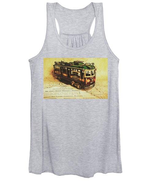 Icon Melbourne Tram Art Women's Tank Top
