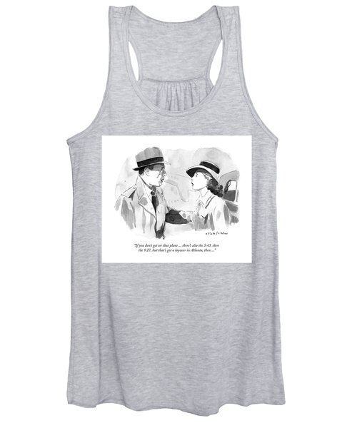 If You Dont Get On That Plane Women's Tank Top