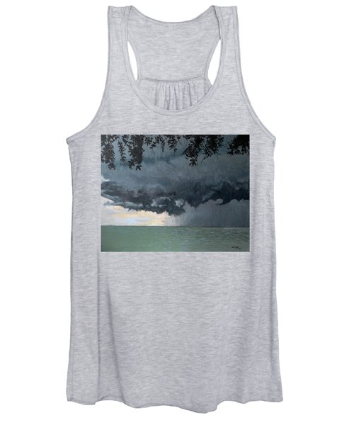 In Coming Storm-epping Forest On The Lake Women's Tank Top