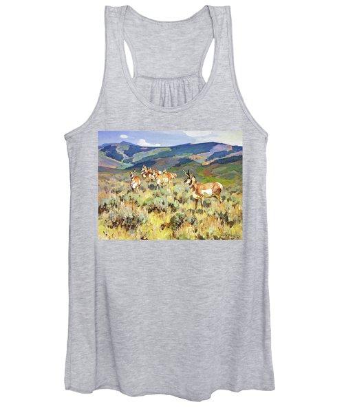 In The Foothills - Antelope Women's Tank Top