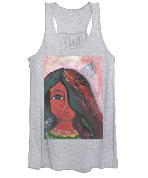Indian Rajasthani Woman Women's Tank Top