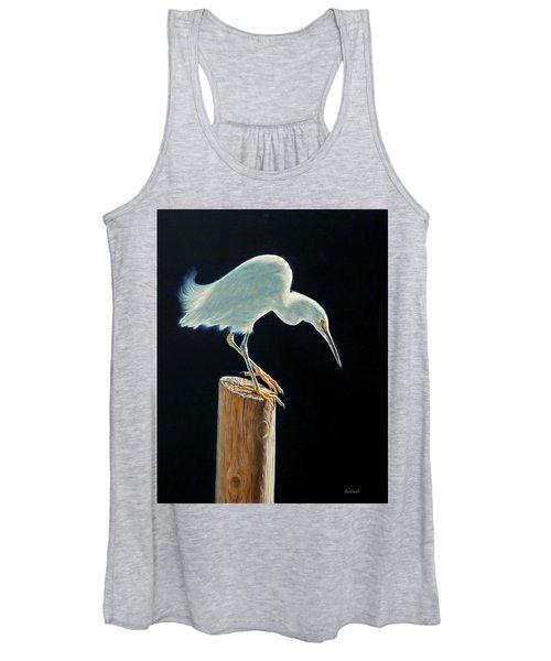 Interlude - Snowy Egret Women's Tank Top
