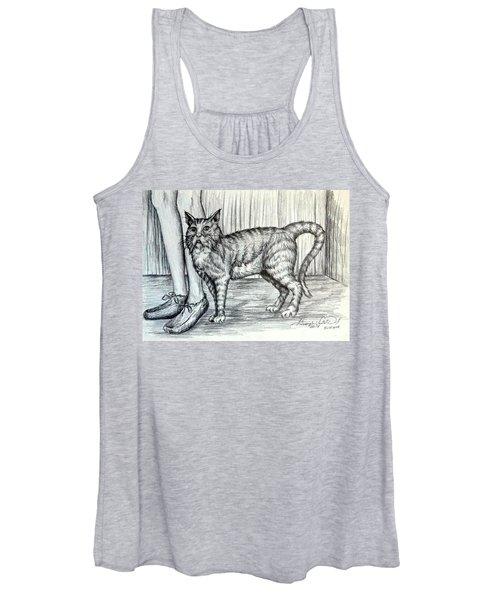 Intrigue  The Cat Women's Tank Top