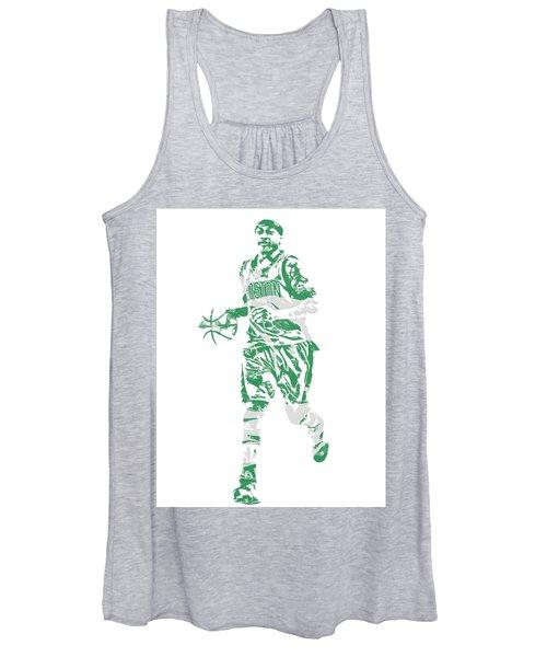 Isaiah Thomas Boston Celtics Pixel Art 17 Women's Tank Top