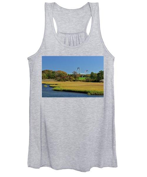 Jamestown Marsh With Pell Bridge Women's Tank Top