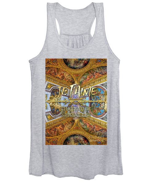 Je Taime Chateau Versailles Peace Salon Hall Of Mirrors Women's Tank Top