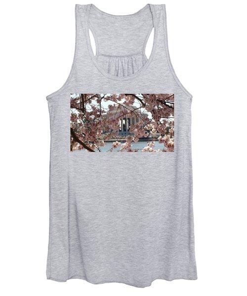 Jefferson Through The Cherry Blossoms Women's Tank Top