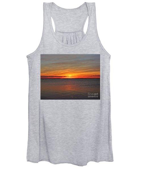 Jersey Shore Sunset Hdr Women's Tank Top