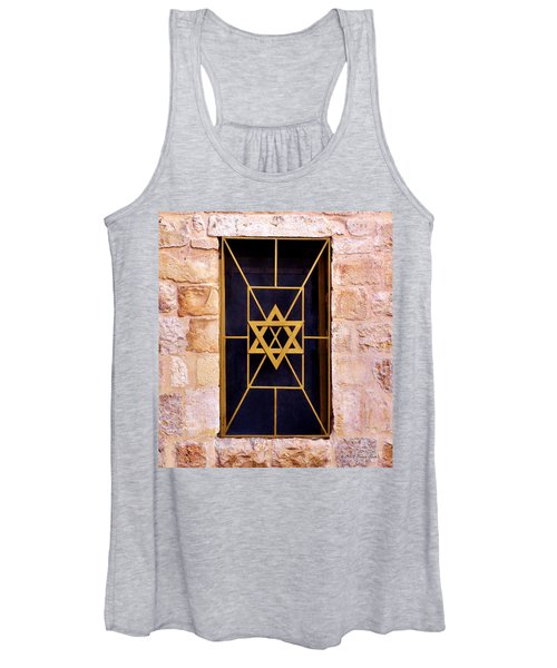 Jerusalem Window On Mt. Zion Israel Women's Tank Top