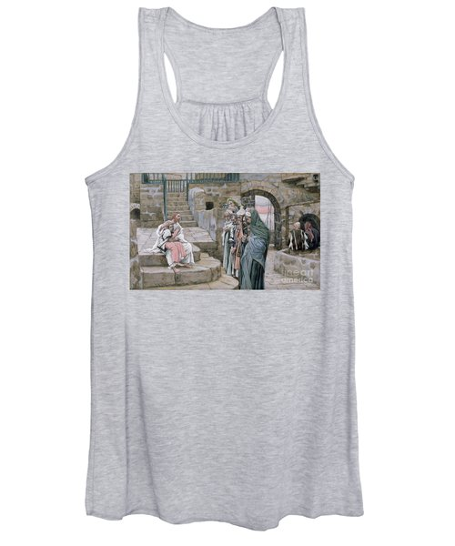 Jesus And The Little Child Women's Tank Top